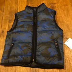 NWT Urban Republic 24m Blue Camo Puffer Vest
